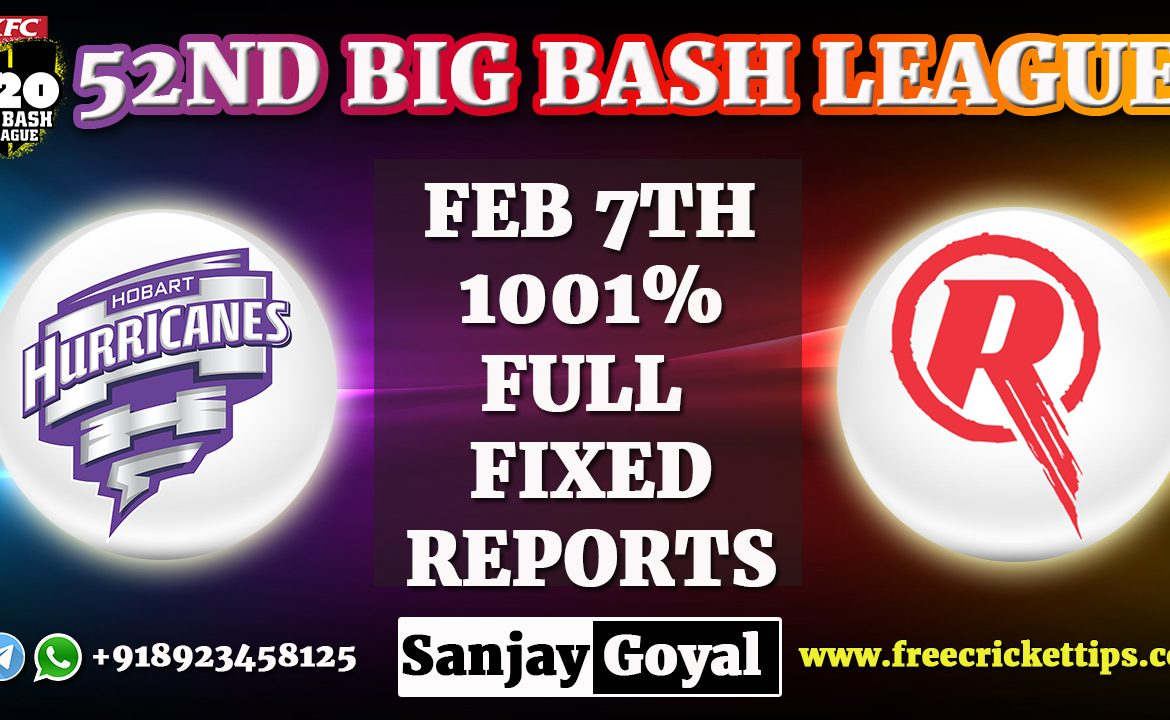 Hobart Hurricanes vs Melbourne Renegades