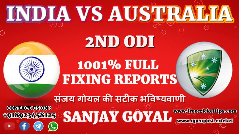 2nd ODI Match India vs Australia
