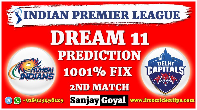 MI VS DC Dream11 Prediction