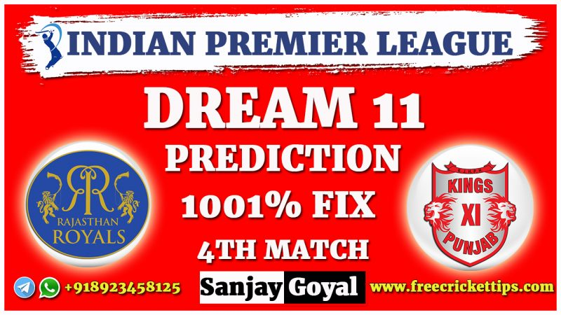 RR VS KXIP Dream11 Prediction