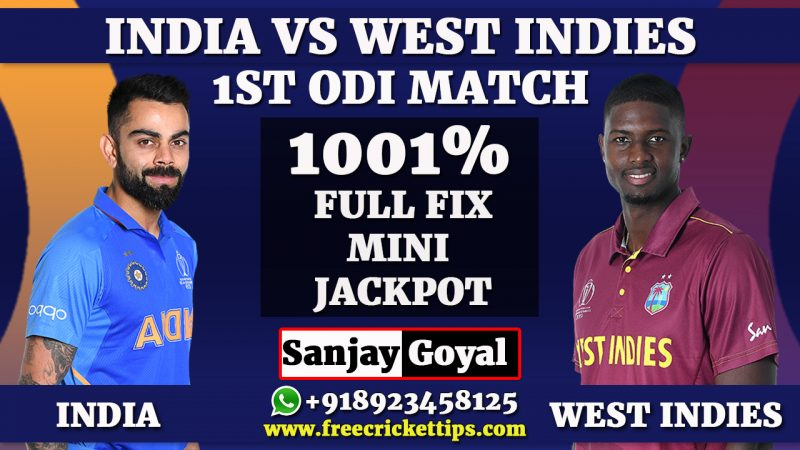 1st ODI Match West Indies vs India
