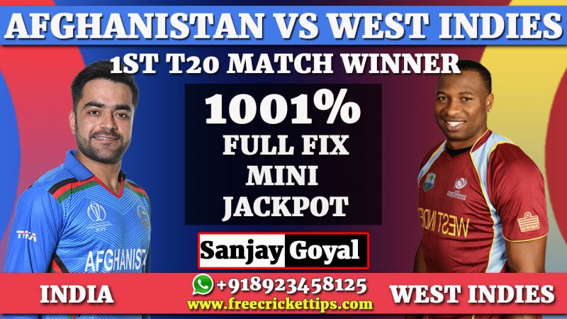 Cricket Betting Tips 1st t20 Afghanistan vs West Indies