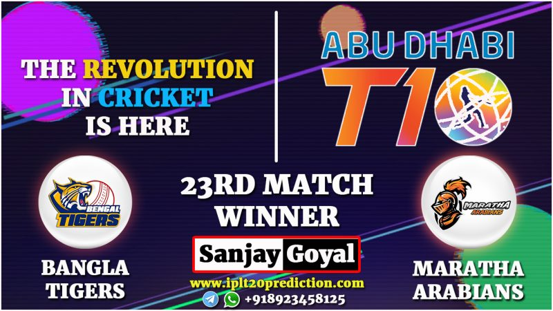 23RD MATCH Bangla Tigers vs Maratha Arabians