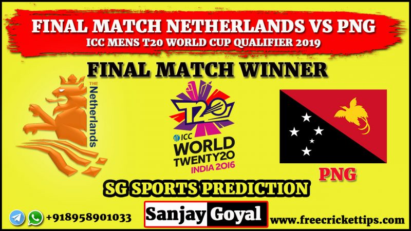 FINAL MATCH Netherlands vs PNG
